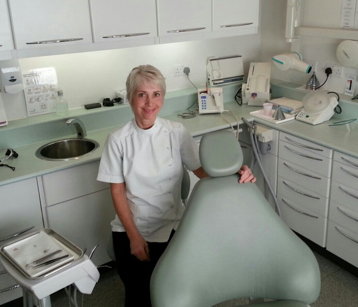 Mrs Hassan in the main dental surgery